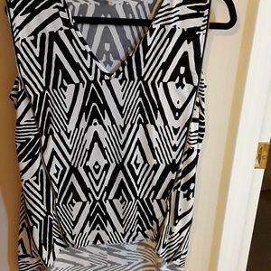 Calvin Klein black grey zipper top M like new